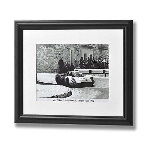 Hill Interiors - Lamina en blanco y negro de Vic Elford en Porsche (Talla Única/Blanco/Negro)