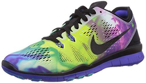 Nike Free 5.0 TR Fit 5 Print 704695, Unisex-Erwachsene Laufschuhe Mehrfarbig (Black/Black-Persian Violet-Photo Blue)