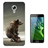 002479 - Funny Bear Bicycle Cool Design Acer Liquid Z6 Plus