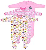 #1: Baby Grow Minni Berry Long Sleeve Cotton Sleep Suit Romper Set of 3 For Girls (12-18M)