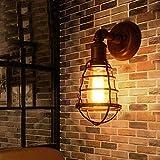 Wandlampen Kleine Käfige Einzelner Kopf E27 Lampenschirm Metall LED Industriell Persönlichkeit Nachttisch Innen Befestigung Beleuchtung Dekoration