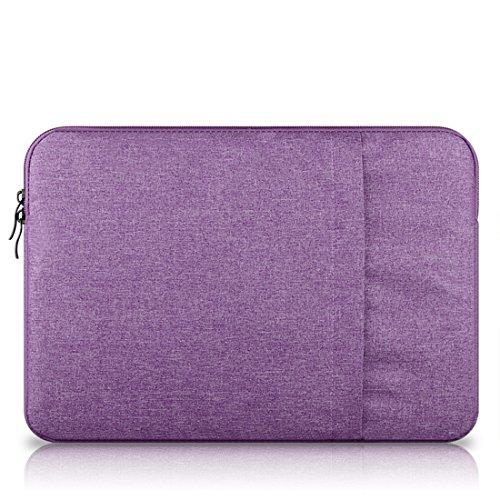 Leinwand Laptop Tasche Sleeve Hülle Case Schutz Tasche für MacBook Air/MacBook Pro/Pro Retina notebook tasche 11 - 15 zoll (11,6 Zoll Lila [B])