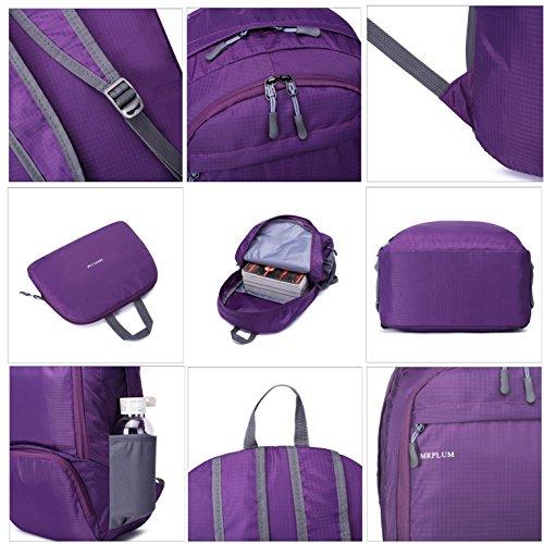 """mrplum 30l verpackt werden können als """"rucksack die haltbarsten licht für männer und frauen wandern tasche + camping - ausflug ist für outdoor - trave radfahren rucksack kleine tasche Violet"""