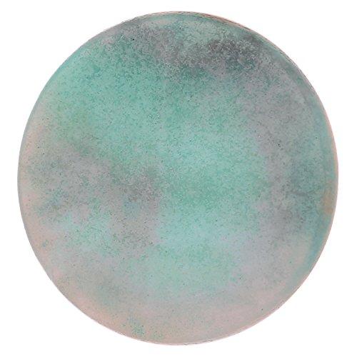 Morella coins moneta amuleto ciondolo chakra rotondo 33 mm gemma pietra preziosa - amazzonite