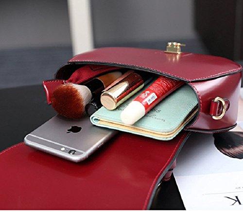 WTUS Damen Neue Handtasche Abdeckungsart Tasche Retro-Mode-Minihandtaschen -Schulterbeutel Schweinchen Beutelfrauen -PU-Umhängetasche Beuteltote Rot