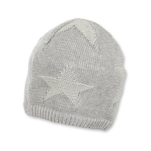 Sterntaler Baby-Jungen Strickmütze Mütze, Grau (Silber Melange 542), 47