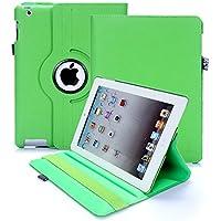 Custodia per iPad 2/3/4, RC copertina con Rotazione a 360 gradi Custodia in Pelle PU per Apple iPad 2 3 4 con Smart Cover (Verde)