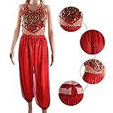 SymbolLife Bauchtanz kostüm damen indischen Tanzkleidung Tanzkostüme belly Dance Halloween Karneval Kostüme Darbietungen Kleidung Rot -