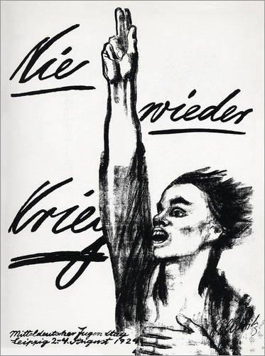 Poster 60 x 80 cm: Nie Wieder Krieg von Käthe Kollwitz - Hochwertiger Kunstdruck, Kunstposter
