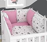 Tour de lit-SIX Coussin Velours les taies d'oreillers pour le lit bébé 70x 140cm