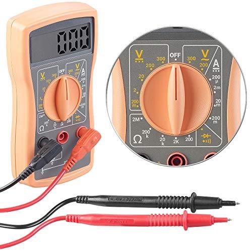 revolt Spannungsprüfer: Digitales Multimeter VA52 für Spannung, Stromstärke und Widerstand (Durchgangsprüfer)
