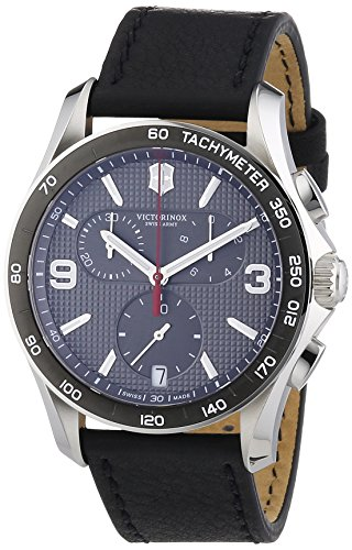 Victorinox Swiss Army Herren-Armbanduhr XL Chronograph Quarz Leder 241657