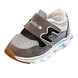 Heligen_Baby Shoes Abstand Unisex-Kinder LED Sneakers Mode Blinkschuhe Low-Top Casual Outdoor Sneakers Laufschuhe Sportschuhe Hallenschuhe für Jungen und Mädchen Größe 21-30