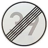 ORIGINAL VERKEHRSZEICHEN Nr. 282 mit Zahlenkombination ENDE 39 km/h für den 40 Geburtstag mit RAL Gütezeichen StVO Geburtstagsschild Straßenschild Verkehrsschilder Schild Schilder Straßenzeichen Geburtstagsgeschenk Straßenschilder Geburtstag