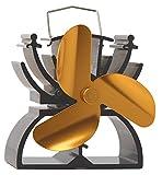 Thermoelektrischer Ventilator für Kamin/Feuerstelle, 12,5 cm hoch, umweltfreundlich, Antrieb durch Hitze gold