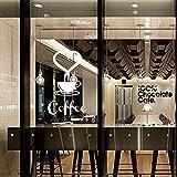 Gleecare Wandaufkleber Kaffee Tasse Dekoration Aufkleber Sticker Tapeten Wohnzimmer Schlafzimmer TV Hintergrund Wanddekoration