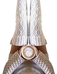 Internet 2016 Automne-hiver Femmes Bottes longues tricot chaussettes au-dessus du genou cuissardes 50CM