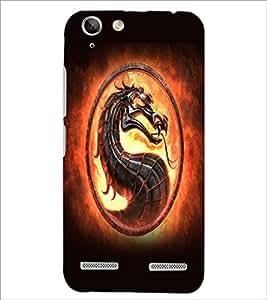 PrintDhaba Dragon D-5523 Back Case Cover for LENOVO A6020a46 (Multi-Coloured)