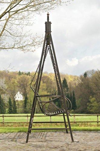 CLP 2 Sitzer / 3 Sitzer Garten Hollywoodschaukel AIMEE, Landhaus-Stil, Metall (Eisen) bronze - 3