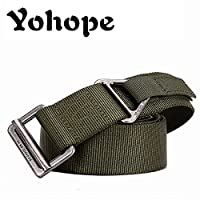 Yohope Military Style Nylon Outdoor Security Combat Velcro Webbing Belt CQB Men
