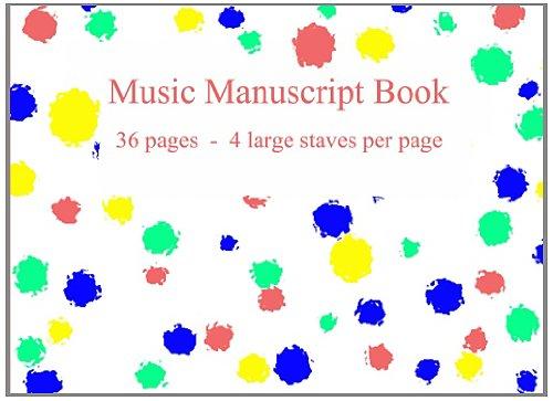 Music Manuscript Book: Large stave manuscript paper