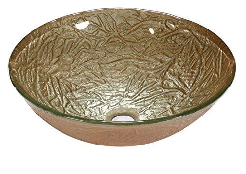 Xie (Pots de table en verre trempé de salle de bain sanitaire Ware Lavabo Or rose Pot T12 * ? 420 * H145 mm