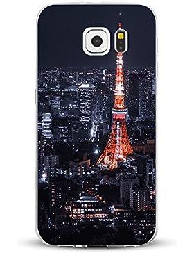Teryei® Funda Samsung Galaxy S6 Edge Clear TPU Silicona Protección Premium Transparente ultrafina Choque Caso...