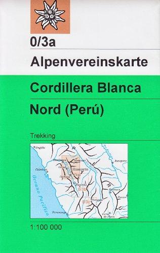 Cordillera Blanca Nord (Pérou) 1:100 K trekking carte, Alpenvereinskarte