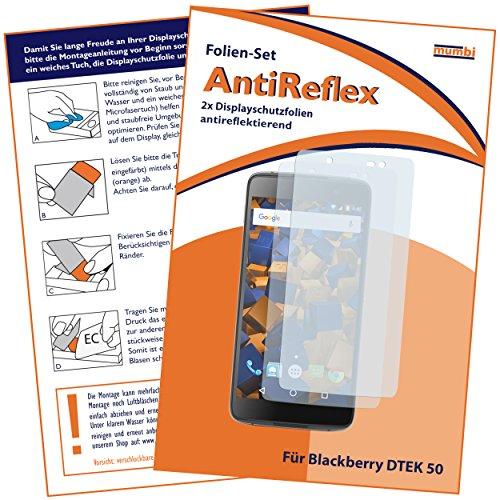 mumbi Schutzfolie kompatibel mit BlackBerry DTEK50 Folie matt, Bildschirmschutzfolie (2X)