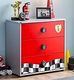 Cilek RACECUP Kommode Sideboard Anrichte Kinderkommode Rot