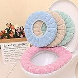 SHEDRWE Sedile 4 Pezzi Sedile WC Universale Sedile WC per Uso Domestico Cuscino Sedile WC Caldo Cuscino per Cereali in Zucca