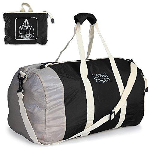 Travel Inspira - Borsone leggero e richiudibile, adatto per fare sport, andare in palestra, in vacanza o in viaggio