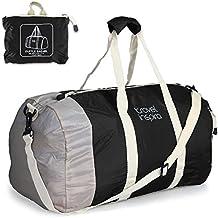 Travel Inspira - Bolsa de deportes (ligera, plegable, lona)Equipaje de viaje plegable bolsa de lona ligera para Deportes, Gimnasio, vacaciones y viajes bolsas