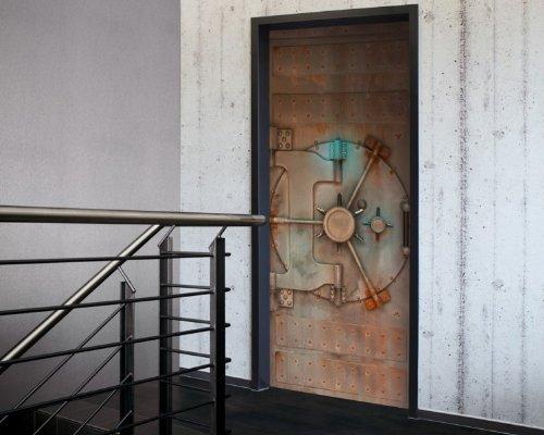 Tür 2.0 XXL Wallpaper für Türen 20010 Tresor - selbstklebend- Blickfang für Ihr zu Hause - Tür...