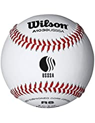 Wilson A1030BUSSSA League Series Baseball (12-Pack), White by Wilson Sporting Goods - Team