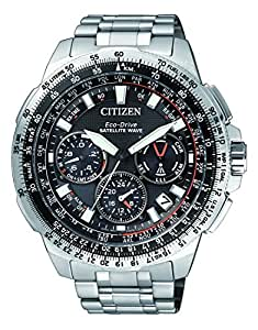 Citizen Herren-Armbanduhr Promaster Sky Satellite Wave Chronograph Quarz Titan CC9020-54E: Citizen