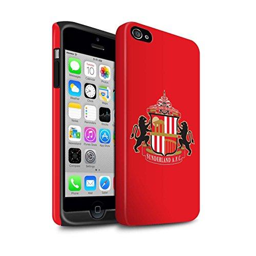 Offiziell Sunderland AFC Hülle / Matte Harten Stoßfest Case für Apple iPhone 4/4S / Pack 6pcs Muster / SAFC Fußball Crest Kollektion Rot