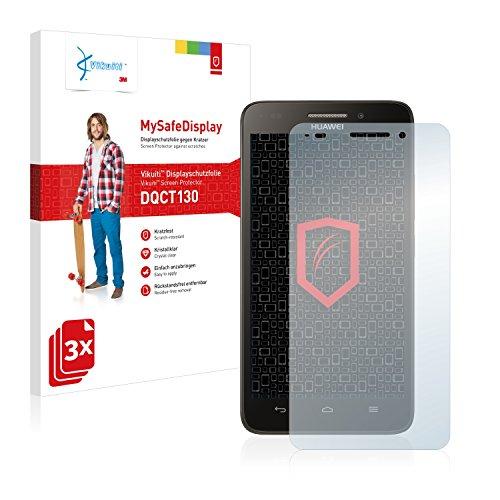 Vikuiti DQCT130 Huawei Ascend G620s Schutzfolie von 3M [3er Set] kristallklare Bildschirmschutzfolie Folie Bildschirmfolie