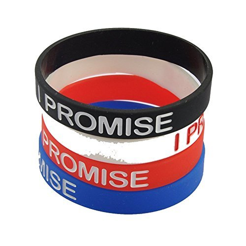 newsilkroad-i-promise-silicone-sport-wristband-bracelet4pcs-assorted-color-by-newsilkroad