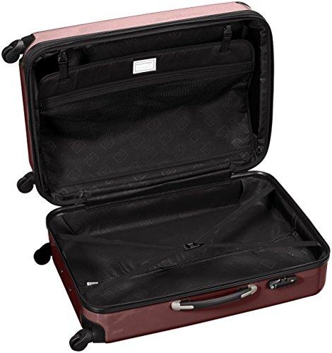 HAUPTSTADTKOFFER - Alex - Hartschalen-Koffer Koffer Trolley Rollkoffer Reisekoffer Erweiterbar, 4 Rollen, TSA, 75 cm, 119 Liter, Burgund - 5