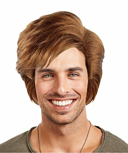 80's Style George Michael Halloween Fancy Dress Wig
