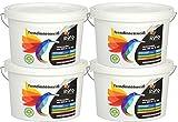 RyFo Colors Trendinnenweiß 12,5l Sparpack (4x) zum super Sparpreis - hochwertige zertifizierte Wandfarbe, weiß, Deckkraft Klasse 2, scheuerbeständig, Innen-Dispersion, geruchsarm, lösemittelfrei