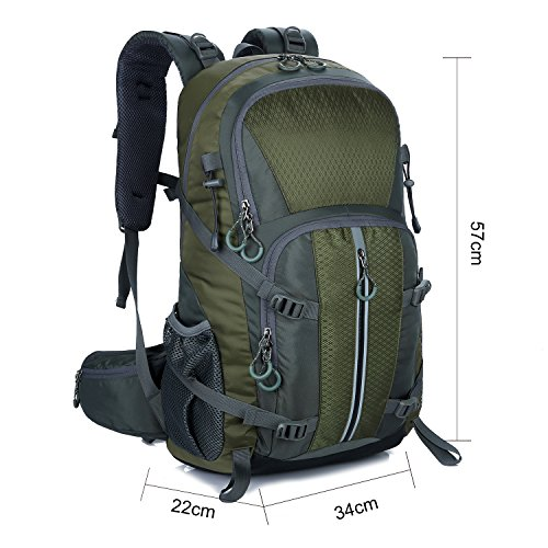 Young & Ming - 45L Unisex Rucksäcke Im Freien Wandern Klettern Freizeit Trekkingrucksäcke Outdoor Taschen Radfahren Reiten Reisetaschen wasserdicht Backpack Grün1