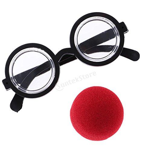 mit Brille Spaßbrille für Clown Zirkus Kostüm Halloween Fasching Karneval (Halloween Kostüme Brille)