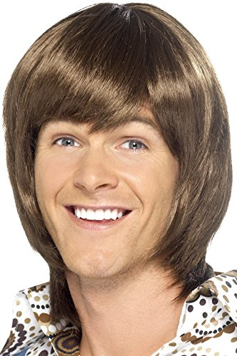 Smiffy's 70's Heartthrob Wig - Brown