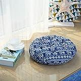 YU&AN Baumwoll-Leinen Stuhl Kissen,Runde Sitzfläche Esszimmerstuhl Büro-sitzpolster Für Wohnheim Wohnzimmer Schlafzimmer-J Diameter40x8cm(16x3inch)