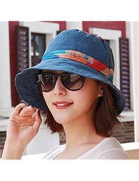 Señora pescador hat primavera Floral estilo folk tapa suelta la moda hat cap cap visera solar Tamaño de Cuenca...