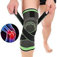 Lunji 3D Kniebandage, verstellbar, weich und atmungsaktiv, doppelter Druck, hohe Elastizität, für Männer und Frauen... preisvergleich bei billige-tabletten.eu