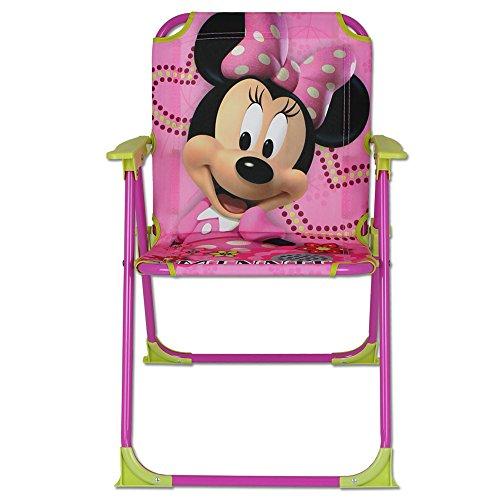 Klappstuhl Kinder mit Motivauswahl - Campingstuhl - Kinder Standstuhl - Kinderstuhl - Kinder Gartenstuhl (Minnie Mouse)