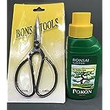 2piezas bonsái árbol Kit de cuidado con grandes tijeras